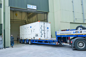 First_Galileo_FOC_satellite_arrives_at_ESTEC_for_space_testing_medium