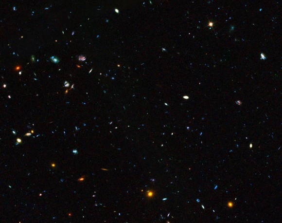 GOODS field containing distant dwarf galaxies forming stars at a