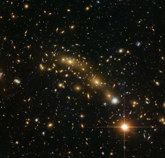 Colour image of galaxy cluster MCS J0416.1–2403