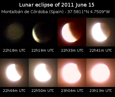 A close-up of the Total Lunar Eclipse of June 15th, 2011, in Montalbán de Cordoba, Spain. Image credit: Hameryko/Wikipedia.