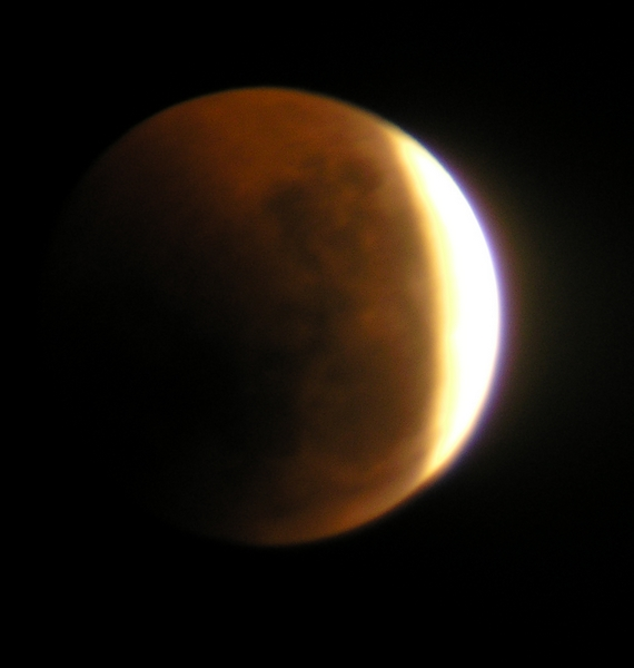 The Total Lunar Eclipse of June 15th, 2011, in The Czech Republic. Image credit: Wespecz/Wikipedia.